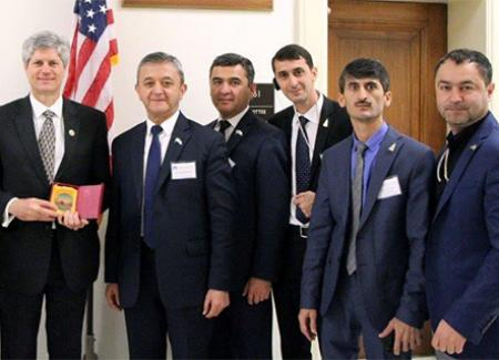 Tajik Members of Parliament with Rep. Jeff Fortenberry