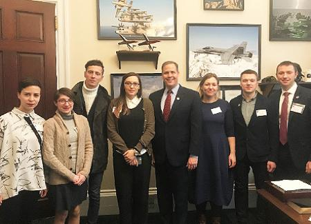 Ukrainian social entrepreneurs with Rep. Jim Bridenstine