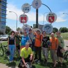 A Young Professional group from Perm, Russia and their hosts after a day of bicycling in their sister city of Louisville, KY.