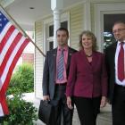 Representative Renee Elmers with parliamentarians from Moldova in North Carolina.