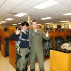 Photo of Enid, OK delegate Dmitriy Lebedev (left) and a local member of the US Air Force on base.