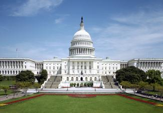 Exterior photo of U.S. Capitol.